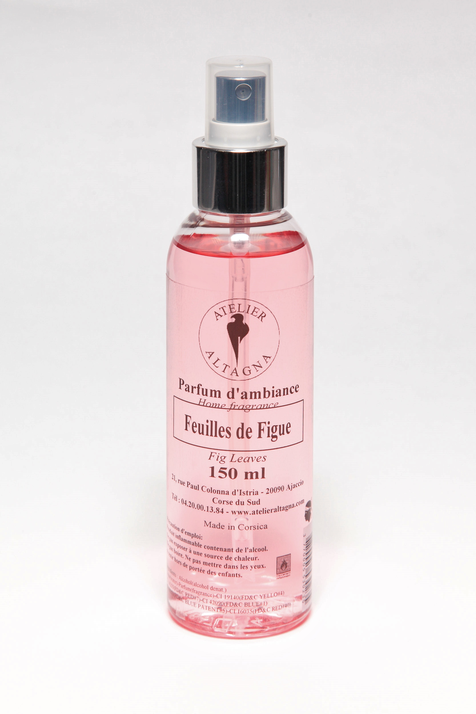 spray standard feuilles de figue 150ml atelier altagna cr ateur et fabricant de produits. Black Bedroom Furniture Sets. Home Design Ideas